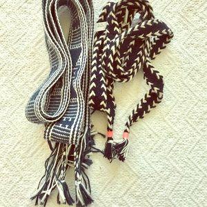 J. Crew woven Bundle belt fringe EUC embroidery